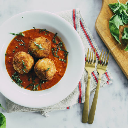 Image of Arancini di Riso in Vodka Sauce