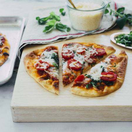 Image of Crispy Naan Margherita Flatbread