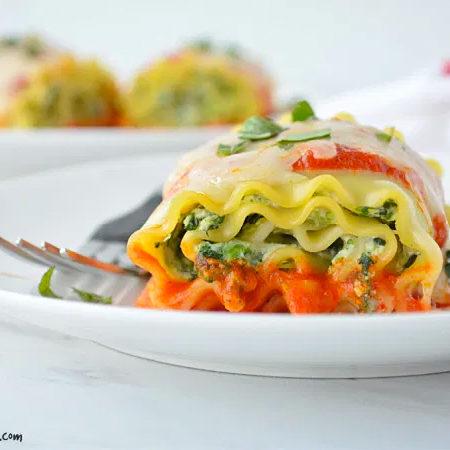 Image of Vegetarian Lasagna Roll Ups with Victoria Pasta Sauce